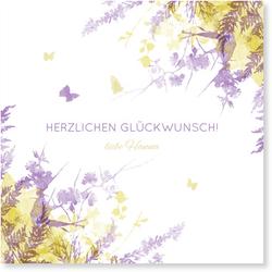 Alle Grußkarten (10 Karten) selbst gestalten, Schmetterlingswiese in Lila -