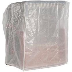 Sonnen Partner Strandkorb-Schutzhülle, für Strandkörbe, BxLxH: 125x110x156cm, transparent weiß