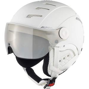 ALPINA Unisex - Erwachsene, JUMP 2.0 Q-LITE Skihelm, white matt, 55-58 cm