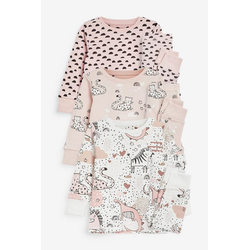 Next Pyjama Kuschelpyjamas mit Einhorn, 3er-Pack (6 tlg) Long Set 116-122