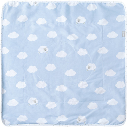 Babydecke Kleine Wolke, blau, 80 x 80 cm