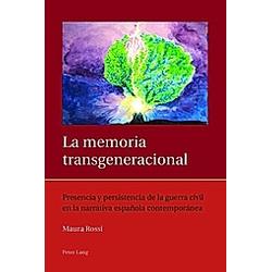 La memoria transgeneracional. Maura Rossi  - Buch
