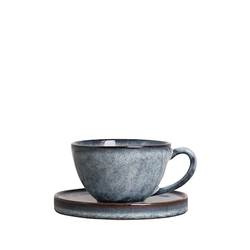 By On Tasse mit Untertasse Jade Blau