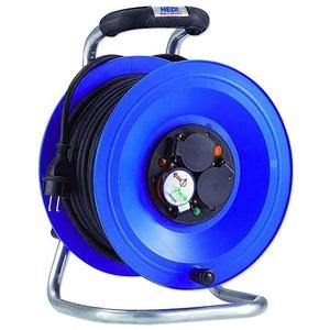 HEDI Kunststoff-Kabeltrommel ''Professional'' Ø 290 mm - 50 m Kabel - 3-fach 250V - IP44