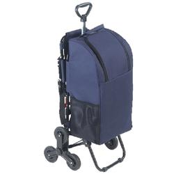 Treppensteiger-Einkaufstrolley mit Sitz, Blau