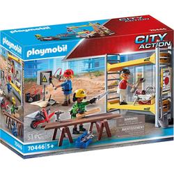 Playmobil® Spielfigur PLAYMOBIL® 70446 Baugerüst mit Handwerkern