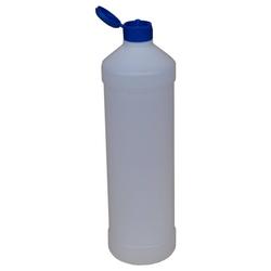 Leerflasche PE-Kunststoff 1 L Dosierhilfe Blau