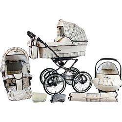 Kombi Kinderwagen Venedig Nostalgie, 10 tlg., classic beige