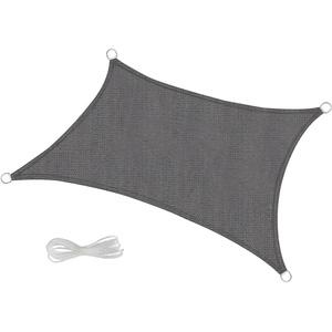 Sonnensegel HDPE UVSchutz Sonnenschutz Rechteck Dreieck Segel Schattensegel Grau