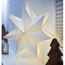6 Stück Hellum LED-Papierstern 578010