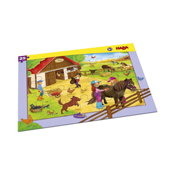 Haba Puzzle Rahmenpuzzle 25 Teile Pferdehof, Puzzleteile