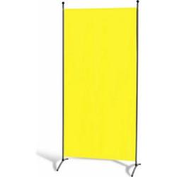 Grasekamp Stellwand 85 x 180 cm - Gelb - Paravent  Raumteiler Trennwand Sichtschutz