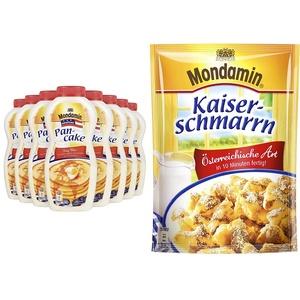 Mondamin Shaker American Pancake, 8er Pack (8 x 215 g) & Kaiserschmarrn Österreichische Art, 8er Pack (8 x 135 g)