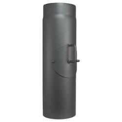 Abgasrohr für Kaminofen Länge 500 mm Ø 150 mm - mit Tür und Drosselklappe - 80345024
