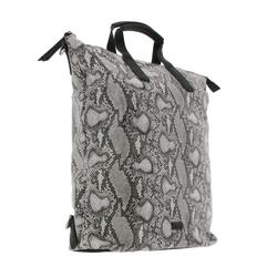 Jost Rucksack JOST XChange Bag S Tasche multifunktionaler Rucksack 3in1 für Damen Python Optik Crossover-Bag Schwarz