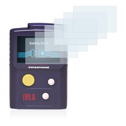 Savvies Schutzfolie für Swissphone RES.Q, (6 Stück), Folie Schutzfolie klar