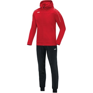 JAKO Classico Trainingsanzug Polyester mit Kapuze rot 46 (Damen)
