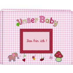 Unser Baby (rosa). Großes Stoff-Fotoalbum als Buch von