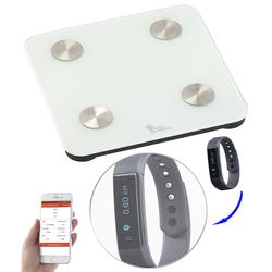 7in1-Körperanalysewaage mit Fitness-Armband FBT-45, Bluetooth, App