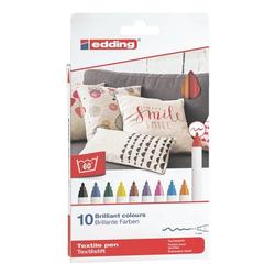 10er-Pack Textilstifte »4600/10999 Basic Colours«, Edding