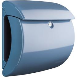 Burg Wächter Briefkasten Piano 886 LB, in Klavierlack-Optik, Light Blue blau