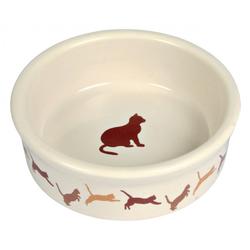 TRIXIE Keramiknapf mit Katzenmotiv 0,2l