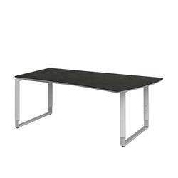 PC Tisch in Grau höhenverstellbar