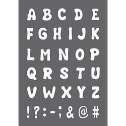 Rayher Siebdruckschablonen ABC grau