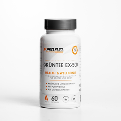ProFuel Grüntee EX-500, 60 Kapseln Dose