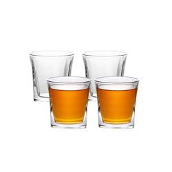 Intirilife Whiskyglas, Glas, 4x Whisky Glas in KRISTALL KLAR 'VINTAGE'- Old Fashioned Whiskey Kristallglas