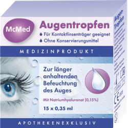 MCMED Augentropfen Einzeldosispipetten 15X0.35 ml