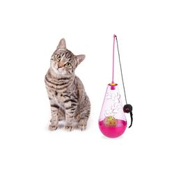 relaxdays Tier-Beschäftigungsspielzeug Katzenspielzeug 3 in 1, PP rosa