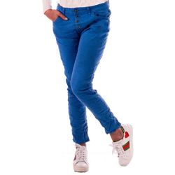 Charis Moda Bootcut-Jeans Royal Blue Karostar Cropped Style blau 38