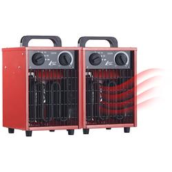 2er-Set Profi-Industrie-Elektro-Heizlüfter, 3.000 Watt, 3 Heizstufen