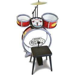 Schlagzeug mit Hocker rot