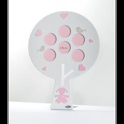 LeBebé Round Tree Pink Fotorahmen