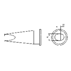 Weller LHT-D Lötspitze Flachform Spitzen-Größe 4.7mm Inhalt 1St.