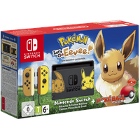 Nintendo Switch grau + Pokemon: Let's Go, Evoli! (Bundle)