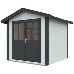 Kiehn-Holz Gartenhaus Aschberg 3, BxT: 272x322 cm, inkl. Aufbau weiß