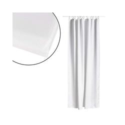 Zone Denmark Duschvorhang LUX Breite 180 cm, Höhe 200 cm, luxuriöser schwerer Stoff weiß