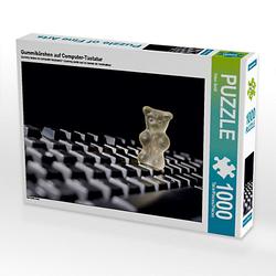 Gummibärchen auf Computer-Tastatur Lege-Größe 64 x 48 cm Foto-Puzzle Bild von Hans Seidl Puzzle