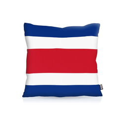 Kissenbezug, VOID, Costa Rica EM WM Flagge Fahne Länderflagge Sport 80 cm x 80 cm
