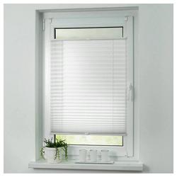 Plissee ohne Bohren Faltstore Fensterrollo Jalousie Faltrollo Plisee Klemmfix, i@home weiß 105 cm x 100 cm