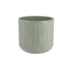 Übertopf ¦ grün ¦ Keramik Ø: 20