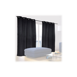 Vorhang Schwarze Vorhänge 2er Set, relaxdays