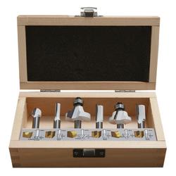 Ø 8mm Schaft 6tlg Fräser Set für Oberfräse