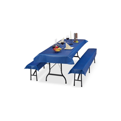 relaxdays Bierzeltgarnitur Bierzeltgarnitur Auflage 3er Set blau
