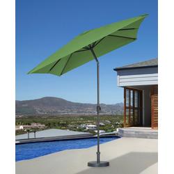garten gut Sonnenschirm, LxB: 200x300 cm, abknickbar, ohne Schirmständer grün
