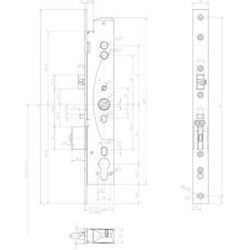 Assa Abloy effeff Mediator Schloss Rohrrah.,Dornm.45mm 609-402PZ