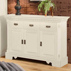 Landhausstil Sideboard in Weiß 45 cm tief